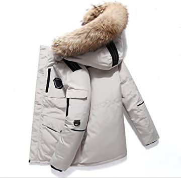 メンズダウンジャケットカジュアルフード付きジャケット冬防風暖かさを克服する自己育成