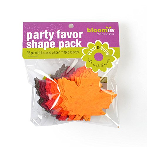 - Bloomin Seed Paper Shapes Packs - Maple Leaf Shapes - 25 Shapes Per Pack - 3x3
