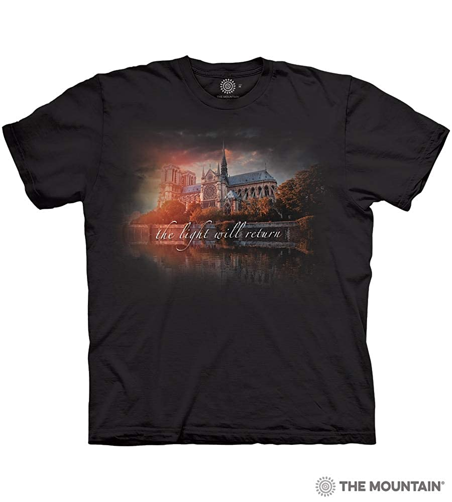Notre Dame Tribute The Mountain Adult Unisex T-Shirt
