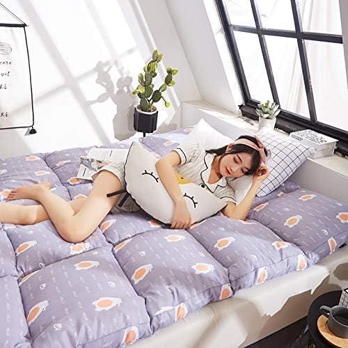 とろみ 印刷 畳敷き マットレストッパー, 折りたためる フェザーベルベット マットレス パッド ベッドのマット 学生寮 フロア パッドを睡眠 布団-G 120x200x8cm