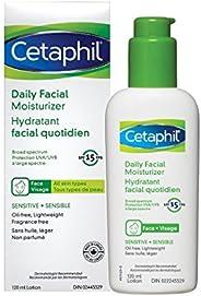 Cetaphil Daily Facial Moisturizer SPF 15 - For Sensitive Skin - Oil Free, Fragrance Free and Paraben Free - Li
