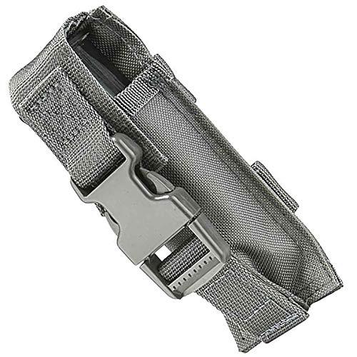 M1Surplus Molle Compatible Wolf Grey Flashlight Belt Holster Pouch Fits Surefire G2X PRO 6PX EB2 P2X UTG VISM Tactical Lights ()