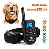 Training Dog Collar - Remote Dog Training Collar YonRui Shock Collars for Dogs -Adjustable, Rechargeable and Waterproof , 330 Yard Range, 4 Modes (Shock, Light, Vibration & Beep), Safe for Small Medium and Large Dogs