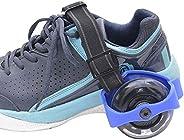 Light up Wheel Heel Skates Roller Adjustable Flashing Shoe Razor Jetts (Bright Blue) (New Improved Material)
