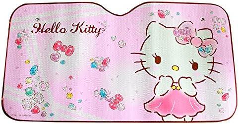 Mfeir Hello Kitty Pink Auto Sonnenblende Sonnenschutz Frontscheibe Blendschutz Windschutzscheibe Schattenspender Autozubehör Im Sommer Auto