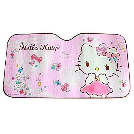 MFEIR Hello Kitty Pink Parasole Auto Protezione Solare Isolamento Termico Barriera Luce Parabrezza Anteriore Tendina Parasole Accessori per Auto in Estate