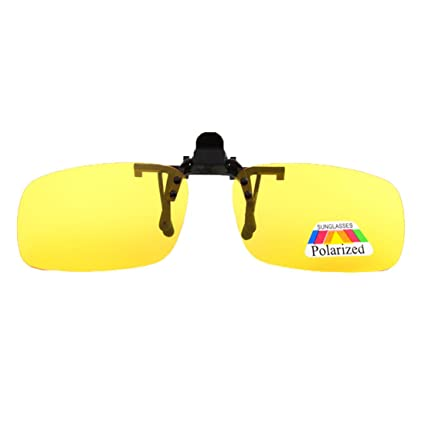 Amazon.com: Unisex Clip anteojos De Sol Polarizadas sin ...