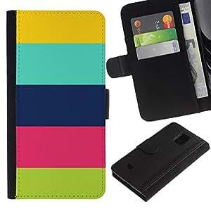 All Phone Most Case / Oferta Especial Cáscara Funda de cuero Monedero Cubierta de proteccion Caso / Wallet Case for Samsung Galaxy S5 Mini, SM-G800 // Pattern Colorful Pastel Clean Happy