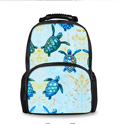 (YongColer Blue Baby Sea Turtle Casual Fashion Backpack, Students Boys Girls Youth School Bags Bookbag, Men Business Travel Computer Bag Daypack)