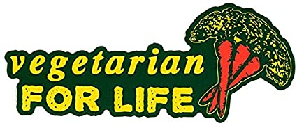 Decal Small Bumper Sticker Vegetarian For Life