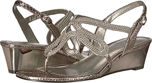 Adrianna Papell Women's Cannes Gunmetal Metallic Rope 6.5 M US