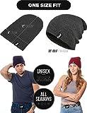 TRUE VISION Mens Black Beanie Hat - Wear as