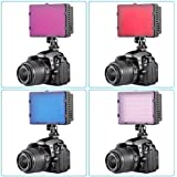 Neewer® 4 Pieces Universal Transparent Lighting Color Filter (Red,Blue,Pink,Purple) for Neewer,Nanguang CN126,CN160 and CN216 Photography LED Video Light