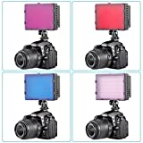 Neewer 4 Pieces Universal Transparent Lighting Color Filter (Red,Blue,Pink,Purple) for Neewer,Nanguang CN126,CN160 and CN216 Photography LED Video Light