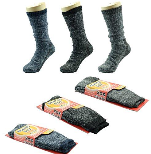 e3e246d2b4e1f2 3 Pairs Men Heated Sox Thermal Winter Heavy Duty Crew Socks Mega Thermo  2.13 Tog. by ny golden fashion