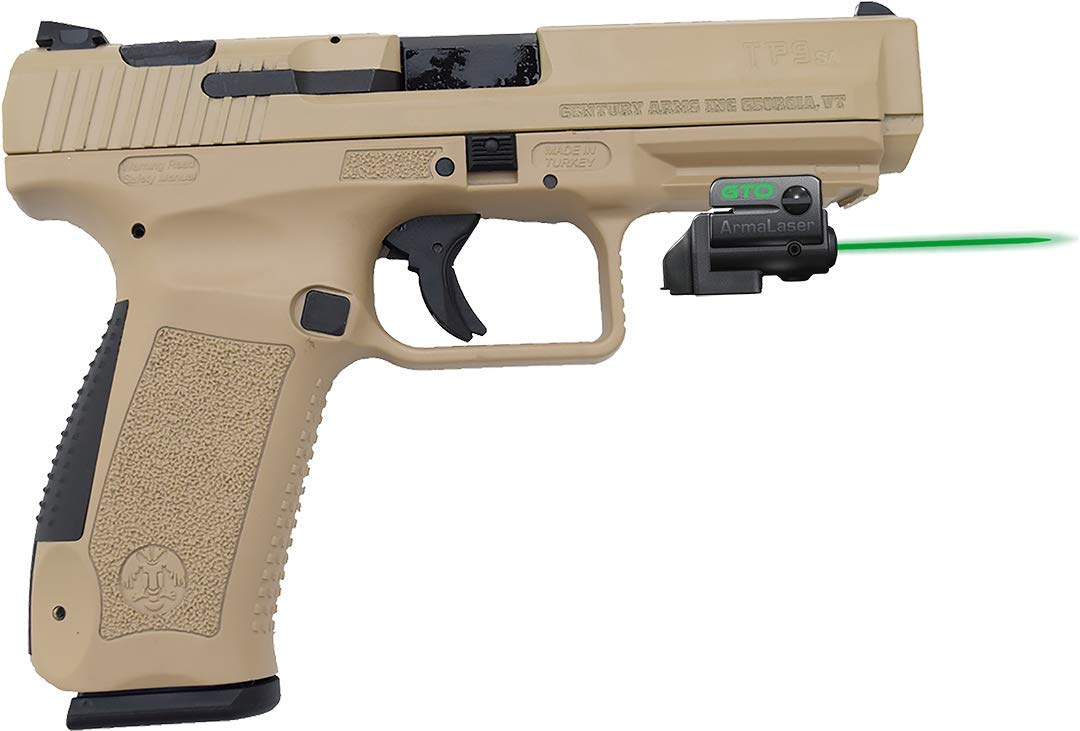 ArmaLaser Century Canik TP9 SA GTO Green Laser Sight and FLX64 Grip Switch