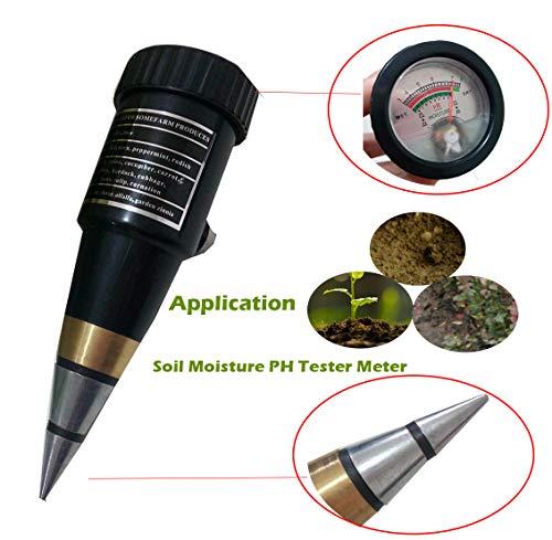 2 in 1 Soil Moisture and PH Tester Meter Multifunctional Needle Type Soil Moisture PH Analyzer Gauge with PH Range 3 to 8 pH Moisture 1 to 8