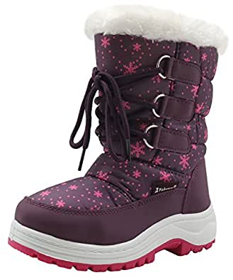 Amazon.com | Apakowa Kids Girls Insulated Fur Winter Warm