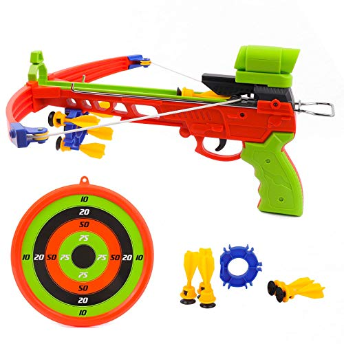 Crossbow Kids Archery Set, Toy Crossbow Set Includes Archery Target and Suction Darts, Kid's Toys Crossbow for Indoor & Outdoor, Toy Bow and Arrow