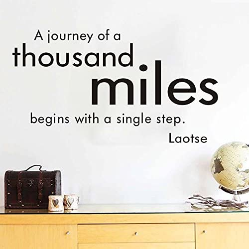 com wall sticker home art quotes a journey of a thousand