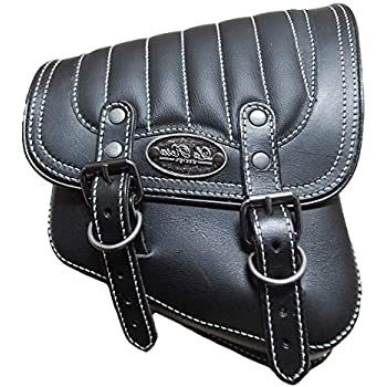 78fc83f7379c La Rosa Harley-Davidson All Softail Models Right Side Solo Saddle Bag  Swingarm Bag Black w White Thread Tuk n Roll