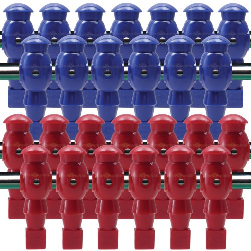26 Red and Blue Robotic Foosball Men