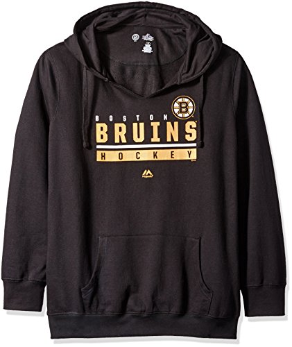 - NHL Boston Bruins Unisex Pullover Hood Screen, Black, 2X