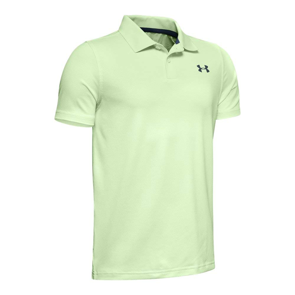 Under Armour Boys' Performance Polo 2.0, Phosphor Green//wire, Youth Small by Under Armour