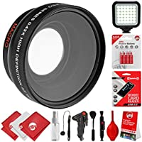 Opteka 0.43x Wide Angle/Macro Panoramic Fisheye Lens for Canon Digital SLR Cameras w/18-55mm & 50mm 80D, 77D, 70D, 60D, 7D, T7i, 7D Mark II, T6s, T6i, T6, T5i, T5, T4i, T3i, T3, SL1 & SL2