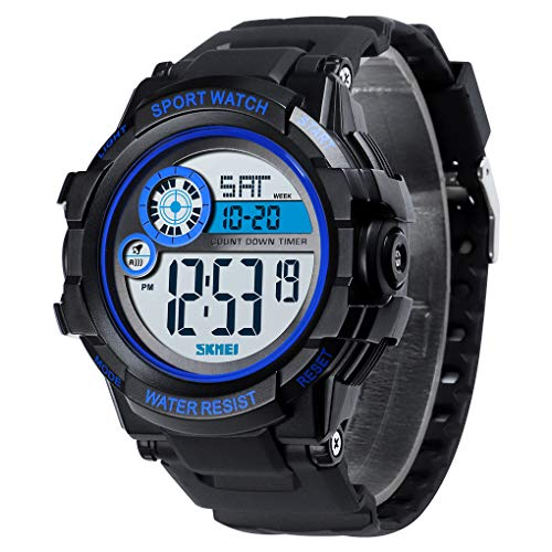 Skmei Sport Watch Countdown Timer Digital Popular Wristwatch Soft Comfortable Waterproof Plastic Watch for - Timer Countdown Watch Digital