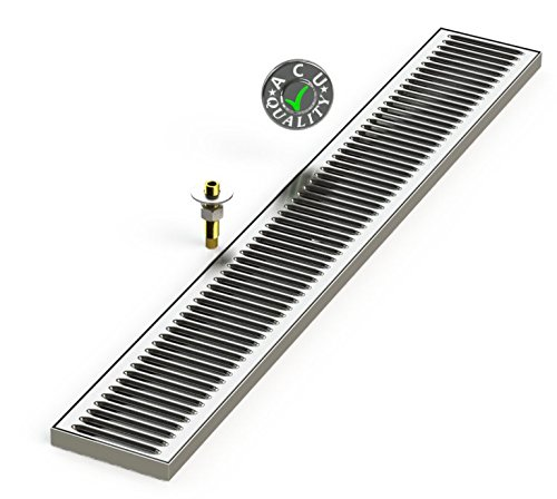 ACU Precision Sheet Metal 0150-36 Surface Mount Drip Tray with Drain 5