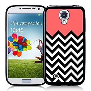 Galaxy S4 Case - S IV Case -   Coral Plus Chevron Samsung Galaxy i9500 Case Snap On Case