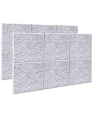 AGPtEK Panel Acústico, 12 Paneles de Absorción Acústica 30 * 30 * 1 cm Paneles de Aislamiento Acústico de bordes biselados, de Alta Densidad, excelentes para el hogar y oficinas