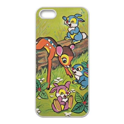 Bambi coque iPhone 5 5S Housse Blanc téléphone portable couverture de cas coque EBDOBCKCO10771