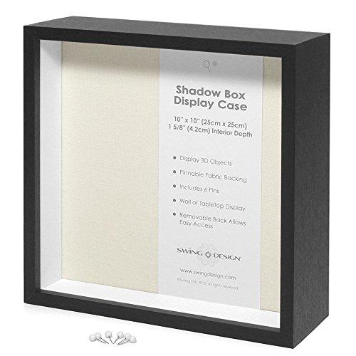 - Swing Design Display Shadow Box, Black, 10