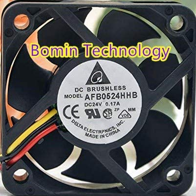 Bomin Technology for Delta AFB0524HHB 24V 0.17A 3-Wire 5CM Cooling Fan