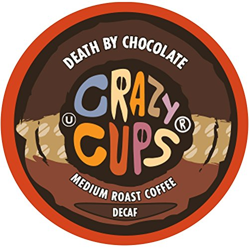 Crazy Cups Decaf Flavored Coffee, for the Keurig K Cups 2.0 Brewers, Death By Chocolate, 22 Count (Chocolate Coffee Decaffeinated)