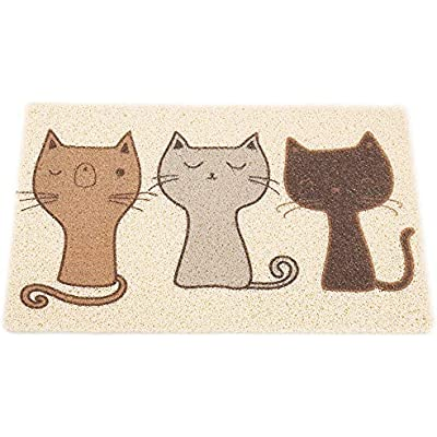 Dimolan Cat Litter Mat,Super Cute Cat Feeding Placemat for Puppy Pet Food Catching,Water-Resistant,Durable and Easy to Clean.