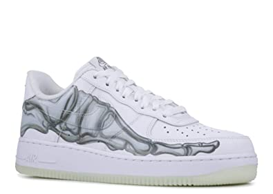 info for daff1 f818c Nike Mens Air Force 1 07 Skeleton QS, WhiteWhite-White, 9