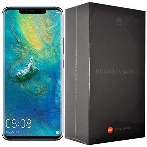 "Huawei Mate 20 Pro LYA-L09 (128GB, Single-SIM, Android, 6.39"" inch) (GSM Only, No CDMA) Factory Unlocked 4G/LTE Smartphone (Emerald Green) - International Version"
