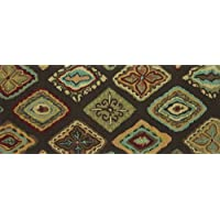 Loloi Rugs OLVAHOL02BRML2050 Olivia Collection Hand-made 100-Percent Polyester Area Rug, 2 by 5-Feet, Brown/Multi