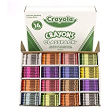 Crayola Bulk Crayons, 800 Count Classpack, 16 Assorted Colors (50 Each)