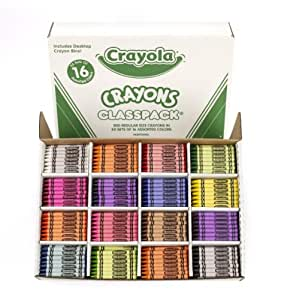Crayola Classpack Assortment, 800 Regular Size Crayons, 16 Different Colors (50 Each), Great for Classroom, Educational, All-Purpose Art Tools