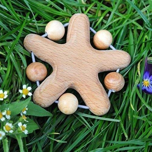 Wooden Teether Juniper Beads Teething Toy Lovely Star