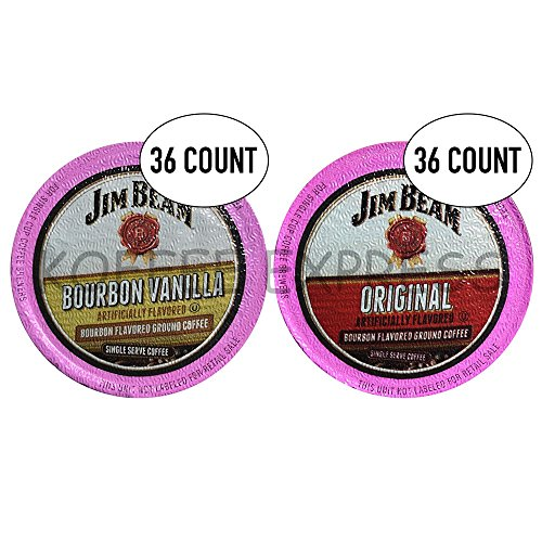Jim Beam Coffee Single Serve Cups, 36 Vanilla & 36 Original