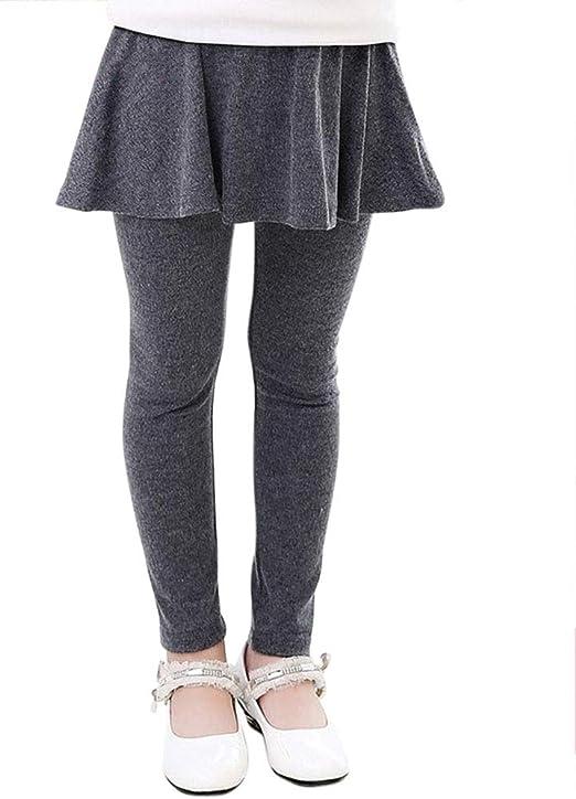 DianShaoA Niña Leggins Leggings Pantalones De Lápiz con Falda De ...