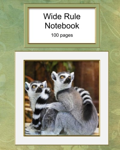 Whitetail Ring - Wide Rule Notebook: Ring Tailed Lemur