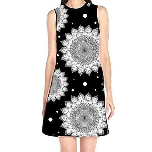 T Element Hibiscus Shirt Alchemic Tank of Dress Sleeveless Women's Sundress Print Fire Sign5 BOBOSELL nRqwIEvSE