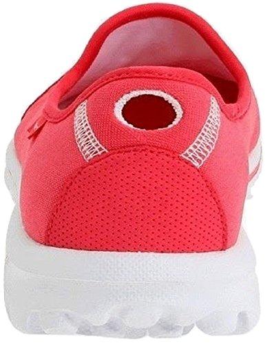 Traje de neopreno para mujer Skechers - GO Walk; Diseño ligero, con piedras de cristal brillantes, Casual Fashion Zapatos de con/zapatillas de - 13510 rosa - hot pink