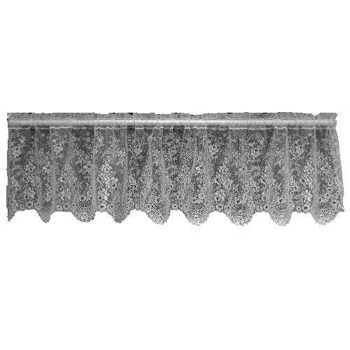(Heritage Lace Floret 60-Inch Wide by 16-Inch Drop Valance, Ecru by Heritage Lace)